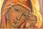 icon, 84 STANDART, icon of the Mother of God, board, silver, oklad weight 520.79 g., painting, Russi...