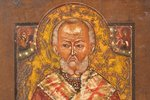 four-part icon, Jesus Christ Pantocrator, Mother of God, Saint Nicholas the Miracle-Worker, chosen s...