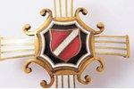 badge, 1st Latvian riflemen regiment (Troicka), Latvia, 20-30ies of 20th cent., 46 x 47.1 mm...