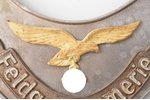 breast plate, Luftwaffe Feldgendarmerie, Third Reich (pre-war), Germany, 40ies of 20 cent., 10.65 x...