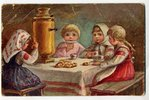 postcard, by artist Lebedeva, Russia, beginning of 20th cent., 13,8x8,8 cm...