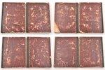"""Talmud"", 5 volumes, 1883, типография Вдовы и братьев Ромм, Vilnius, half leather binding, 30 x 23 c..."