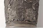 """cup, """"700th anniversary of Riga, 1201-1901"""", tin, Latvia, Russia, 1901, h 16.8 cm..."""