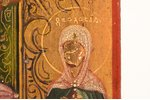 icon, Mother of God Joy of All Who Sorrow, board, painting on gold, Russia, the beginning of the 20t...