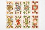 "set of playing cards, SKAT Preußisches Doppelbild Nr. 620, 32 cards, manufacturer ""ASS"", Germany, ca..."