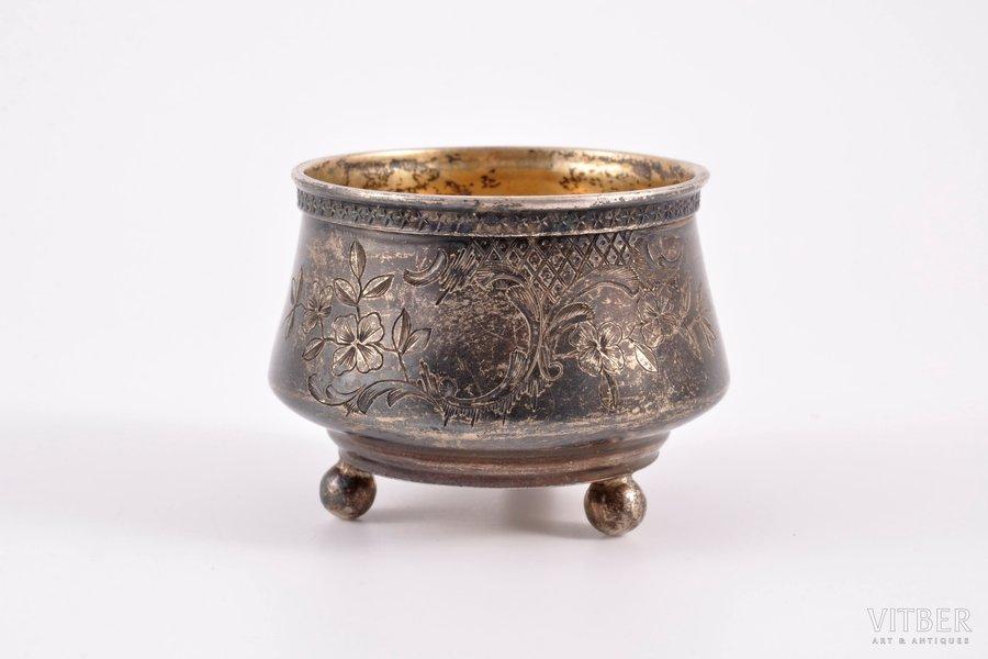 sālstrauks, sudrabs, 84 prove, 1899-1908 g., 33.75 g, meistars I.Prokofjevs, Maskava, Krievijas impērija, Ø 5.4, h 4 cm