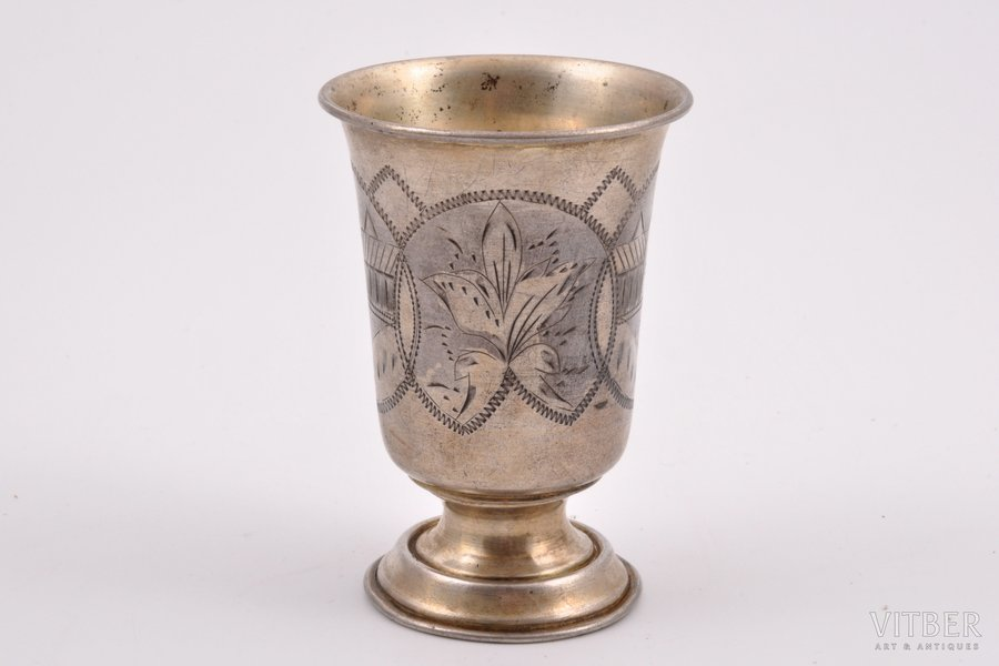 glāze, sudrabs, 84 prove, māksliniecisks gravējums, 1896 g., 65.95 g, Minska, Krievijas impērija, 9 cm