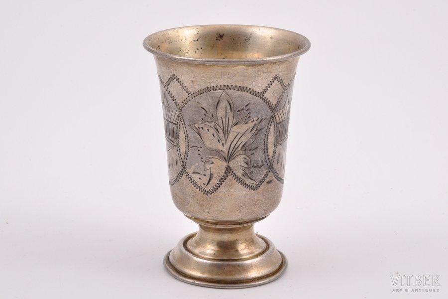 goblet, silver, 84 standart, engraving, 1896, 65.95 g, Minsk, Russia, 9 cm