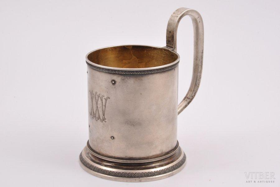 tea glass-holder, silver, 84 standart, 1898-1908, 310.10 g, St. Petersburg, Russia, h = 13 cm, Ø (inside) = 7.6 cm