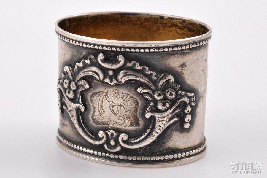 serviette holder, silver, 875 standart, 1932, 15.45 g, Latvia, 3 x 3.8 x 3 cm