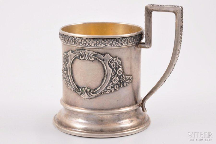 подстаканник, серебро, 875 проба, 30-е годы 20го века, 103.70 г, Латвия, Ø 6.4 см, (внутренний) Ø 6.4 см