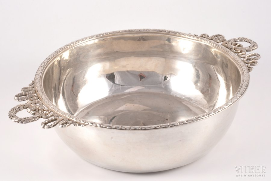 салатница, серебро, 950 проба, 2-я половина 19-го века, 505.30 г, Франция, Ø 20.7 см