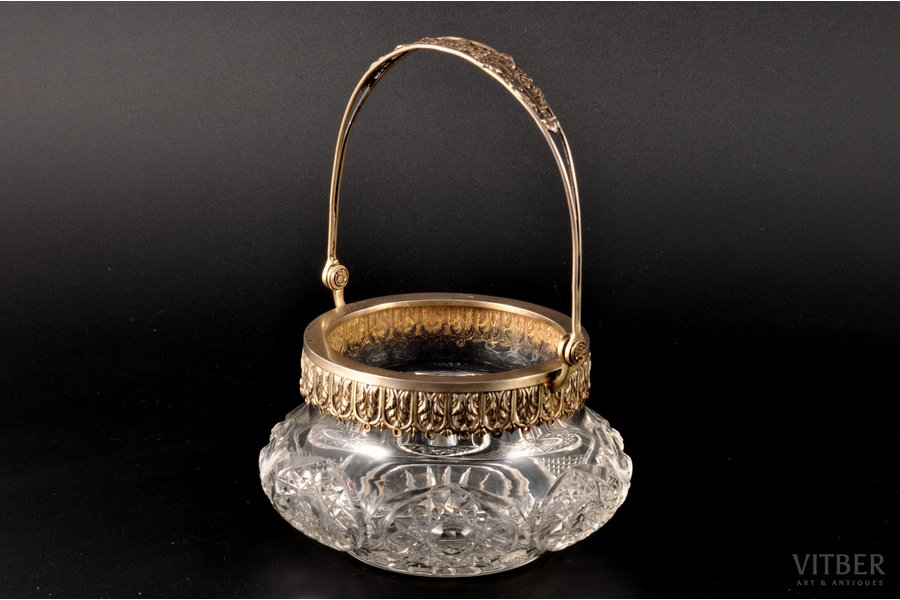 candy-bowl, silver, 800 standart, silver stamping, the beginning of the 20th cent., (item's weight) 500.45 g, Lameyer, Germany, Ø 12.5 cm