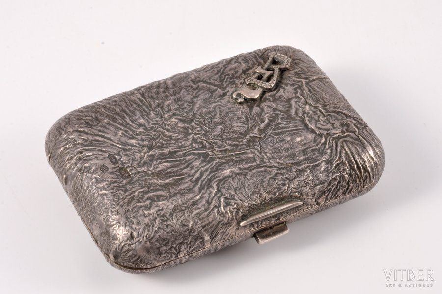 "purse, silver, ""Nugget"", 84 standart, 1908-1916, (item's weight) 95.75 g, St. Petersburg, Russia, 8.2 x 5.9 x 2.1 cm"