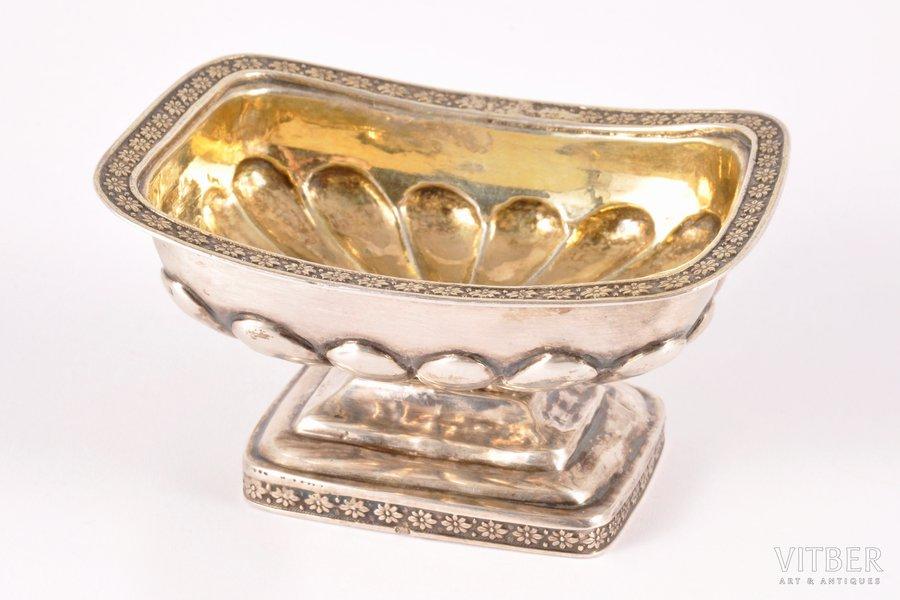 sālstrauks, sudrabs, 84 prove, apzeltījums, 1825 g., 50.20 g, Santkpēterburga, Krievijas impērija, 4.2 x 8.2 x 6.1 cm