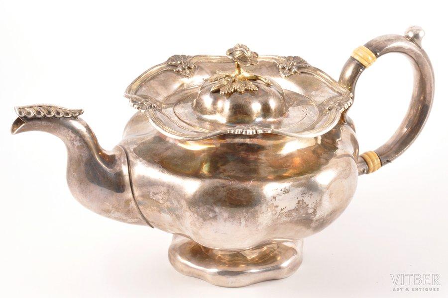 tējkanna (tējas uzlējumam), sudrabs, 84 prove, 1854 g., 669.70 g, meistars Dehio Constantin Christian, Tallina, Igaunija, Krievijas impērija, h 13.5 cm