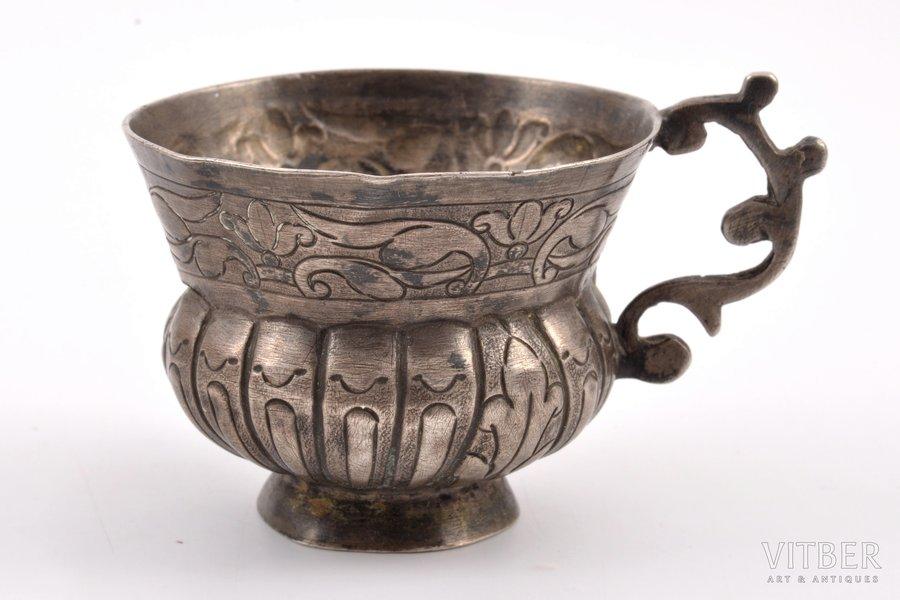 чарка, серебро, 1767 г., 27.40 г, Российская империя, Ø = 4.9 см, h (с ручкой) = 4.1 см