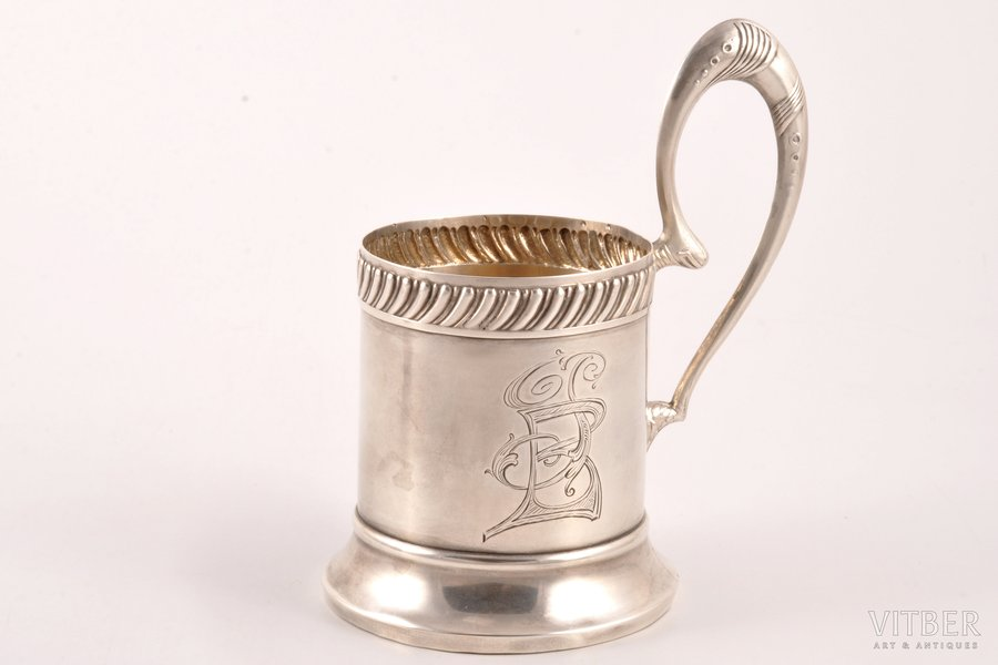 tea glass-holder, silver, 84 standart, 1908-1916, 159.15 g, 25th Moscow Artel, Moscow, Russia, Ø (inner) 6.7 cm