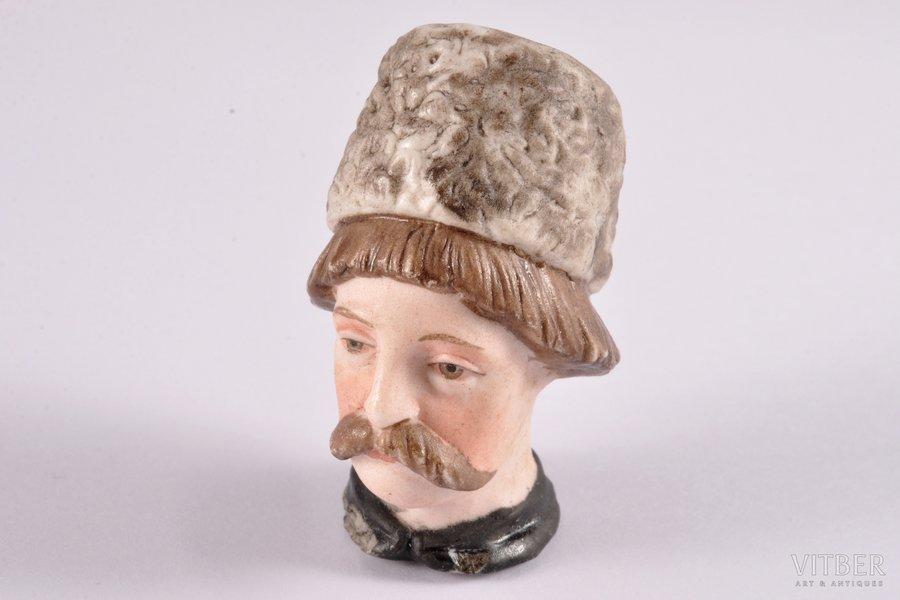 статуэтка, деталь от пробки, бисквит, Российская империя, Гарднер, 2-я половина 19-го века, 5 см