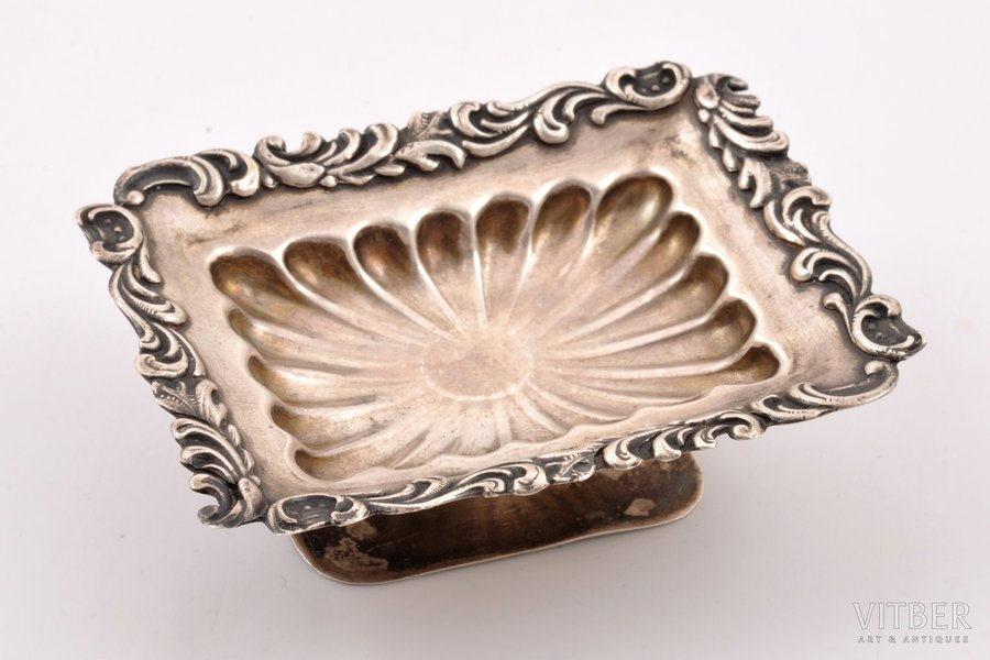 saltcellar, silver, 875 standart, the 20-30ties of 20th cent., 39.40 g, Latvia, 8.5 x 6.4 x 2.5 cm