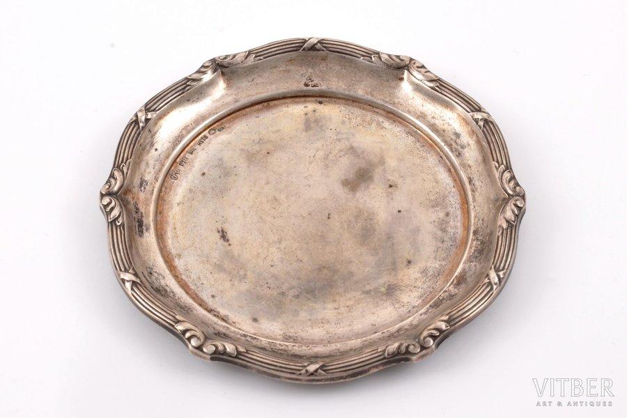 saucer, silver, 830 standart, 1931, 16.50 g, Helsinki, Finland, Ø 7.9 cm