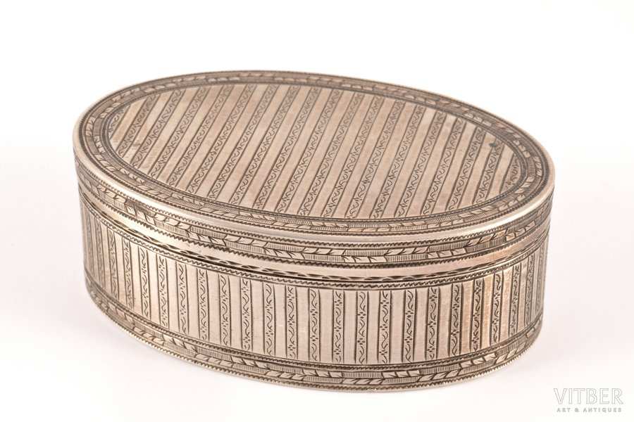lādīte, sudrabs, 13 lot prove, māksliniecisks gravējums, apzeltījums, 1799 g., 136.90 g, Opava (Tropava), Austroungārija, 8.4 x 5.4 x 3 cm