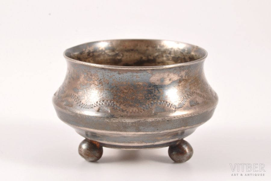 sālstrauks, sudrabs, 84 prove, māksliniecisks gravējums, 1908-1916 g., 11.25 g, Krievijas impērija, Ø 3.8 cm