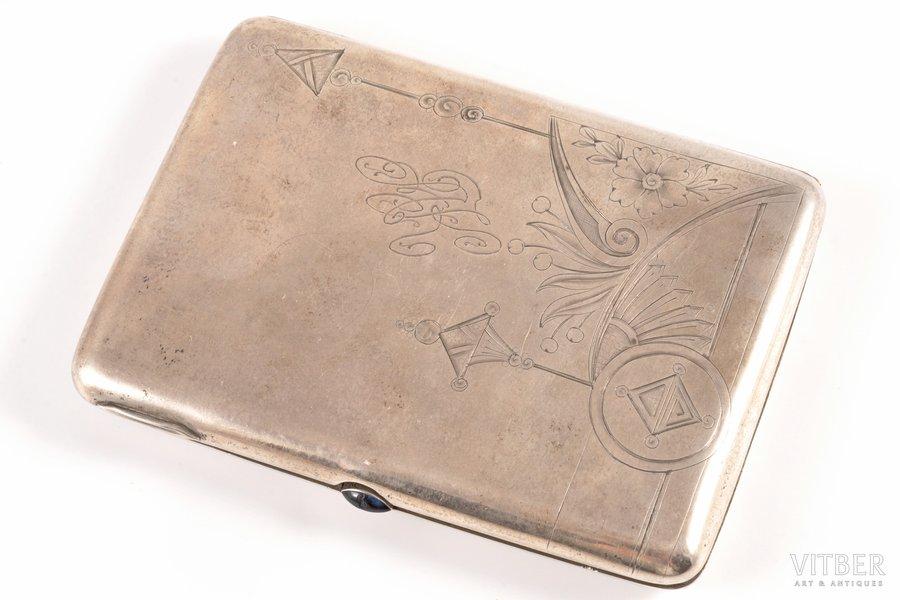 etvija, sudrabs, 84 prove, māksliniecisks gravējums, 1908-1916 g., 172.35 g, Maskava, Krievijas impērija, 11.1 x 8.2 x 1.4 cm
