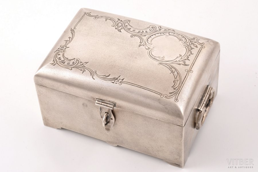 case, silver, 84 standart, engraving, 1899-1908, 338.70 g, Moscow, Russia, 11.6 x 8 x 6.7 cm