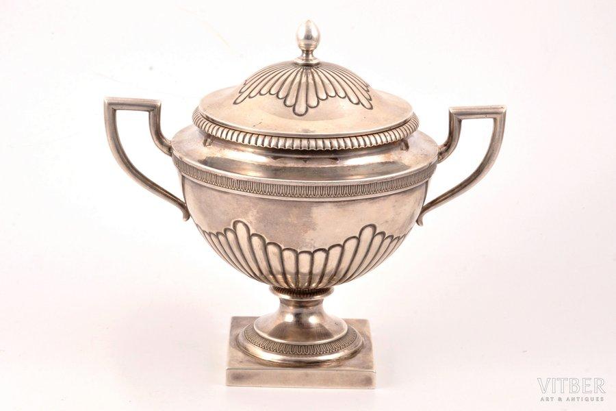 sugar-bowl, silver, 84 standart, 1899-1908, 490.80 g, Vilna, Russia, h 15.7 cm