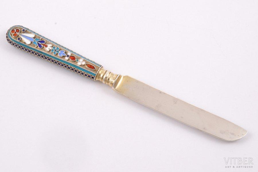 nazis, sudrabs, 84 prove, starpsienu emalja, apzeltījums, 1895 g., 30.25 g, Krievijas impērija, 15 cm