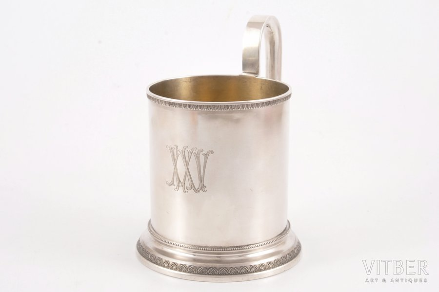 tea glass-holder, silver, 84 standart, 1898-1908, 309.00 g, workshop of Alexander Karpov, St. Petersburg, Russia, Ø (inner) 7.8 cm