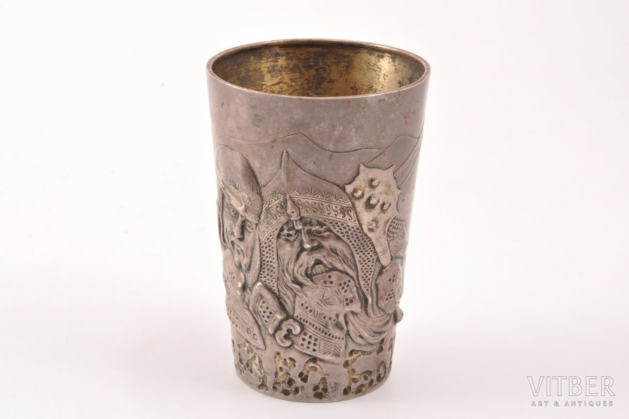 goblet, silver, 84 standart, 1908-1916, 83.90 g, by Mikhail Tarasov, Moscow, Russia, 8.4 cm