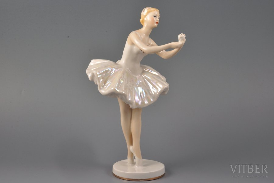 5e13a65bf2 Figurine, Ballerina, porcelain, USSR, LZFI - Leningrad porcelain ...