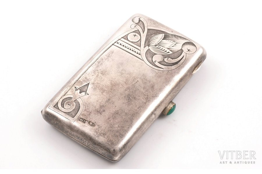purse, silver, 84 standart, engraving, 1908-1917, 70 g, (item total weight)g, workshop of Ivanov Grigory Ivanovich, Moscow, Russia, 8.2 x 5.1 x 1.4 cm