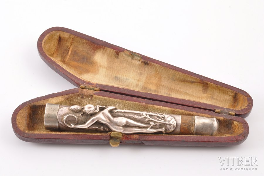 mouthpiece, silver, 84 ПТ standart, the beginning of the 20th cent., (total) 18.15 g, Europe, 8.8 cm