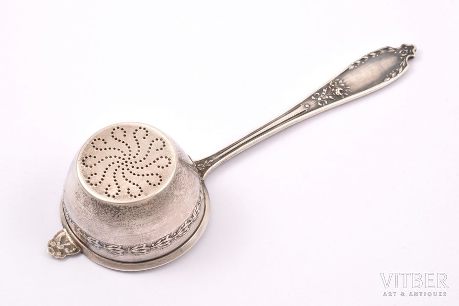 sieve spoon, silver, 950 stand...