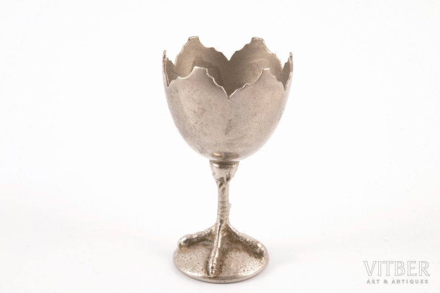 egg holder, metal, h 7.8 cm