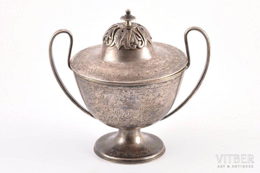 сахарница, серебро, 84 проба, 1816 г., 544.90 г, С.- Петербург, Российская империя, h 16.2 см
