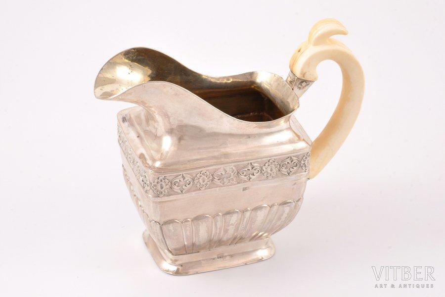 cream jug, silver, 84 standart, bone, 1836, 201.60 g, Moscow, Russia, 11.5 x 13.4 x 6.4 cm