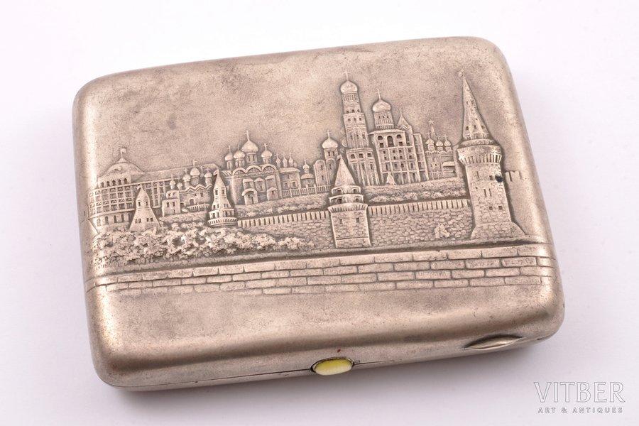 "портсигар, серебро, 875 проба, ""Москва"", 1927-1954 г., 173.75 г, Москва, СССР, 10.9 x 8.5 x 2 см"
