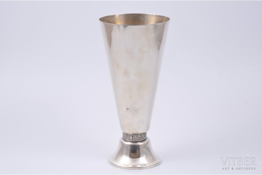 cup, silver, 875 standart, the 40-50ies of 20 cent., 281.45 g, Riga, Latvia, USSR, h 19 cm