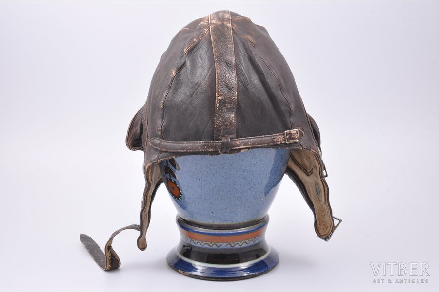 hard hat, motorcycle, leather, the 30ties of 20th cent.