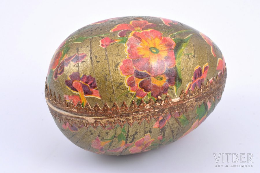 Egg-Shaped Soap, Prov. A. Tombergs, Riga, in cardboard box, Latvia, 9 x 6 x 6.5 cm