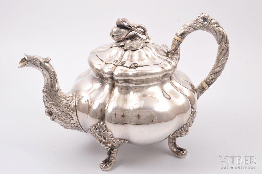 tējkanna (tējas uzlējumam), sudrabs, 84 prove, 1853 g., 810.95 g, meistars Karls Seipels, Santkpēterburga, Krievijas impērija, h 16.2 cm