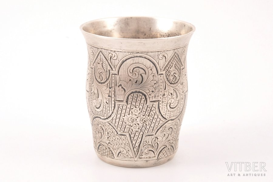 goblet, silver, 84 standart, engraving, 1847, 73.50 g, Moscow, Russia, h 6.8 cm