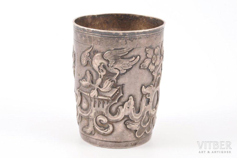 стакан, серебро, 2-я половина 18-го века, 79.20 г, Российская империя, h 7.8 см