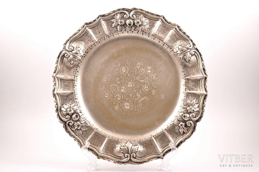 тарелка, серебро, 830 проба, 1931 г., 746.75 г, Швеция, Ø 35 см