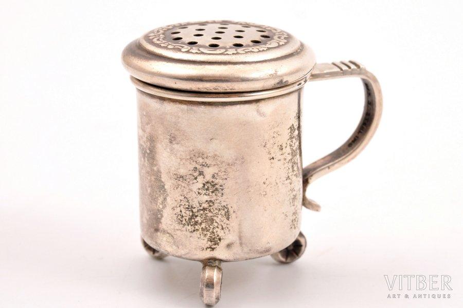 pepper cellar, silver, 925 standart, 15.90 g, h 3.7 cm