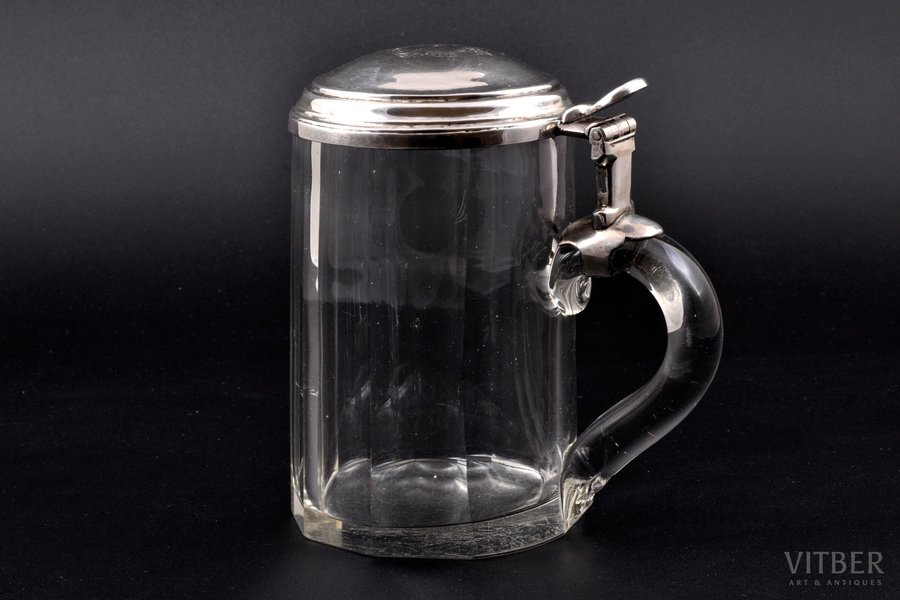 beer mug, silver, 84 standart, the 2nd half of the 19th cent., Riga, Russia, Ø = 8.4 cm, h = 14.3 cm